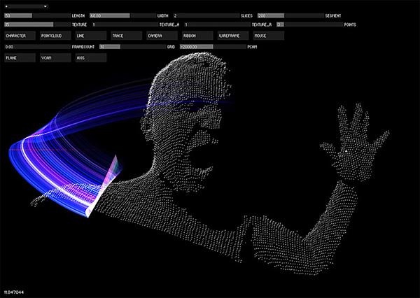 kinect graff   00 Kinect Graffiti™ : 3D Light Painting Madness !