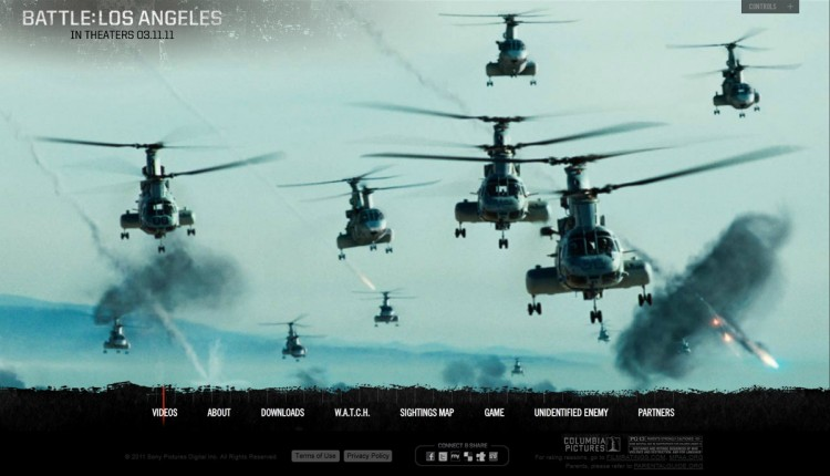 Battle Los Angeles 750x430 17 movies and their websites