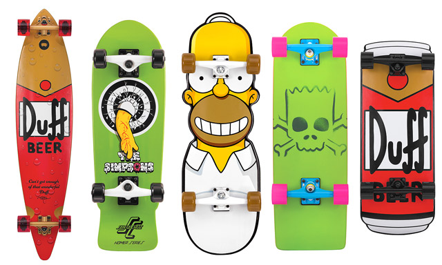 Simpsons decks by Santa Cruz Skateboard 1 Simpsons decks by Santa Cruz