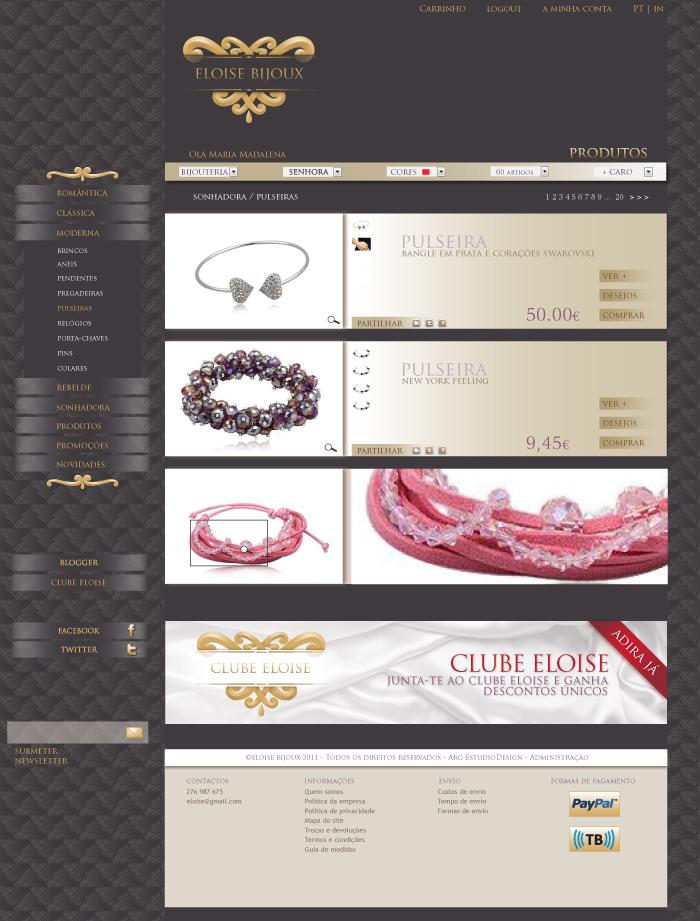 lista produto ARG//Eloise Bijoux Project
