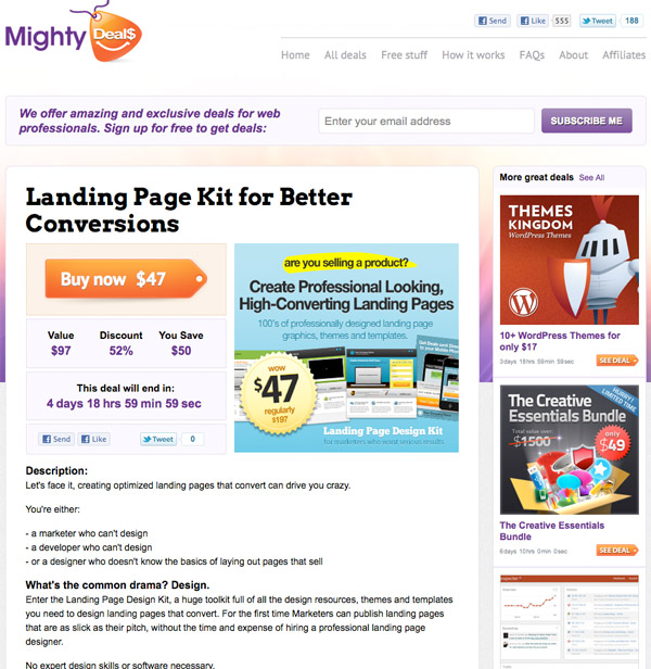md8 Landing Page Kit for Better Conversions