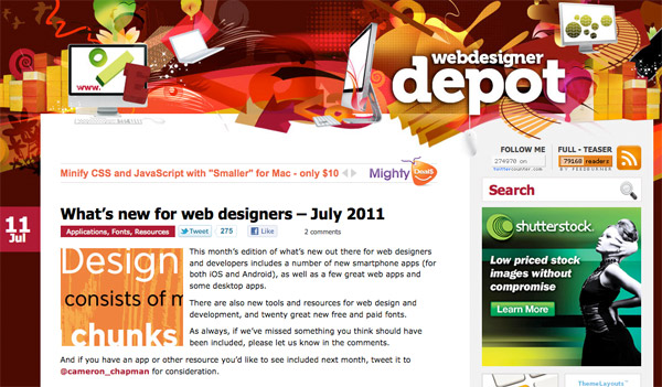 wdd6 What's new for web designers – July 2011