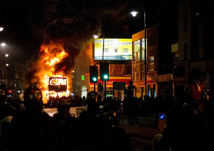 Riots leave London burning