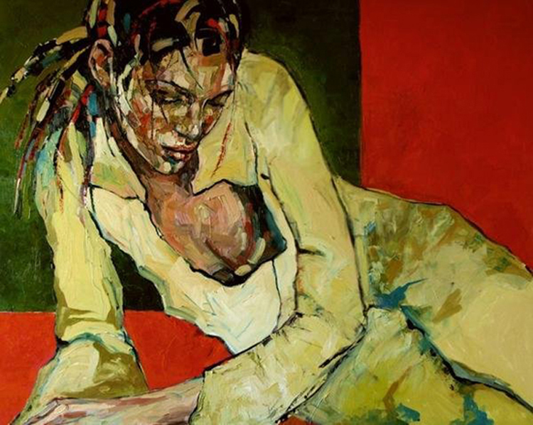 Studies of human nature, paintings by Anna Bocek