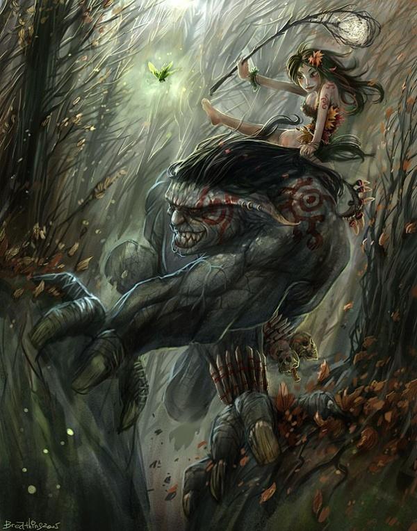 gj4q Fantasy illustrations by Guo Jian