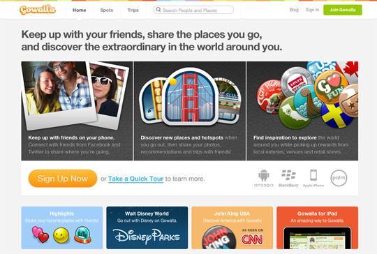 gowalla 30 Beautifully Designed Startup Sites | MachoArts