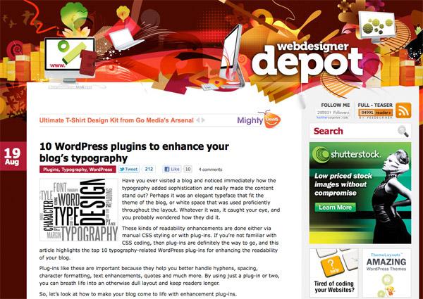 wdd6 10 WordPress plugins to enhance your blog's typography