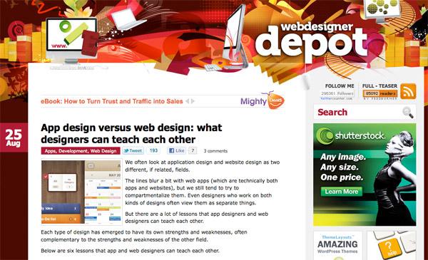 wdd9 App design versus web design: what designers can teach each other