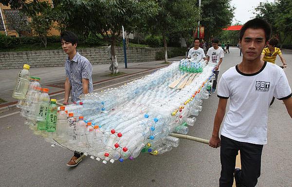 1149 Plastic Bottle Boat Makes Maiden Voyage