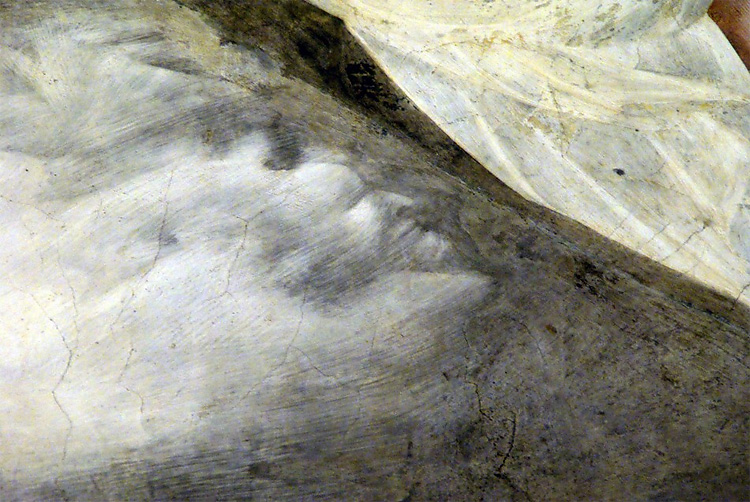 155 Дьяволы лица Скрытые в Фрески Джотто в Ассизи, Италия