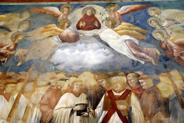 234 Дьяволы лица Скрытые в Фрески Джотто в Ассизи, Италия