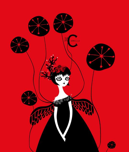 carmilla Fashion Gothic Lolitas mascotte Rossocarmilla