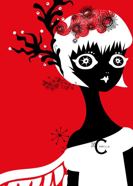 carmilla2 Fashion Gothic Lolitas mascotte Rossocarmilla