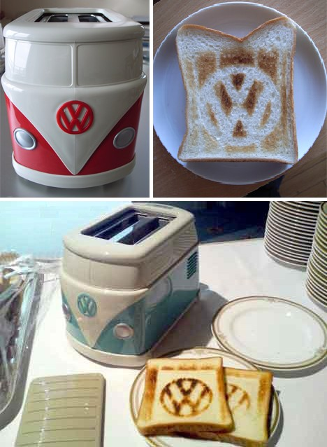 toasters 4b VW Hippie Van Toaster