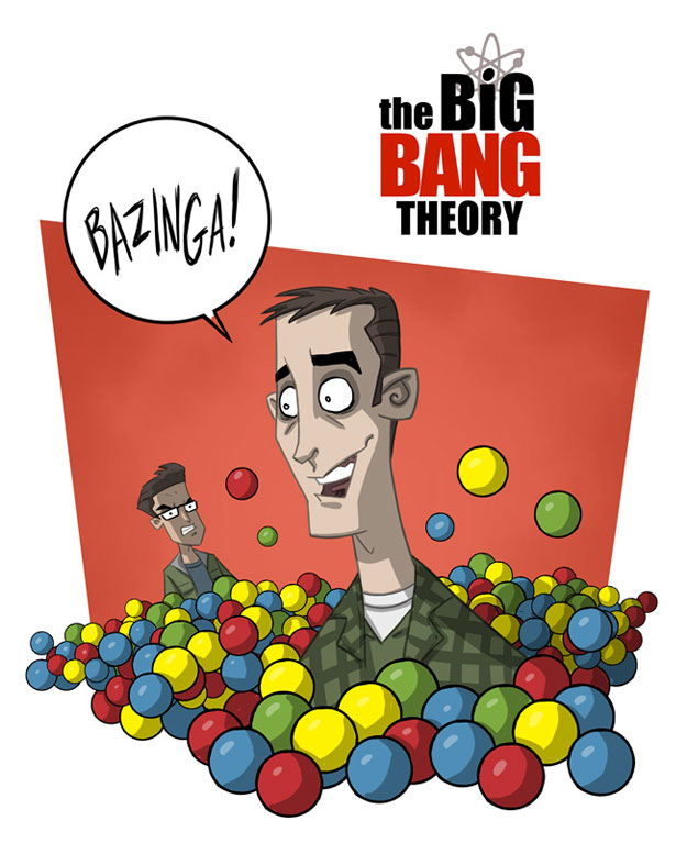 the big bang theory otis frampton bazinga big bang theory animated
