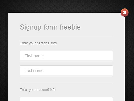 028 big11 25 Free PSD Login Page Template Files