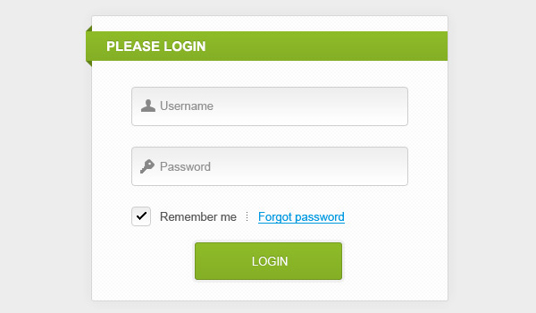 clean and simple login form psd sources1 25 Free PSD Login Page Template Files