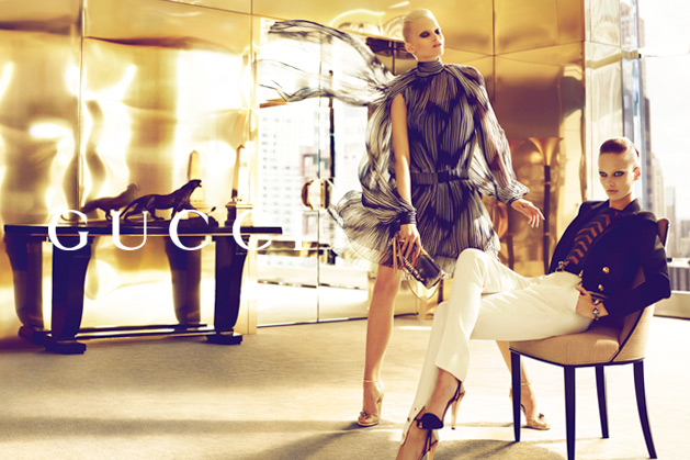gucci1 Abbey Lee Kershaw & Karmen Pedaru for Gucci Spring 2012 Campaign by Mert & Marcus