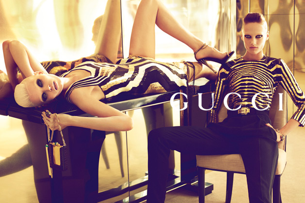 gucci2 Abbey Lee Kershaw & Karmen Pedaru for Gucci Spring 2012 Campaign by Mert & Marcus