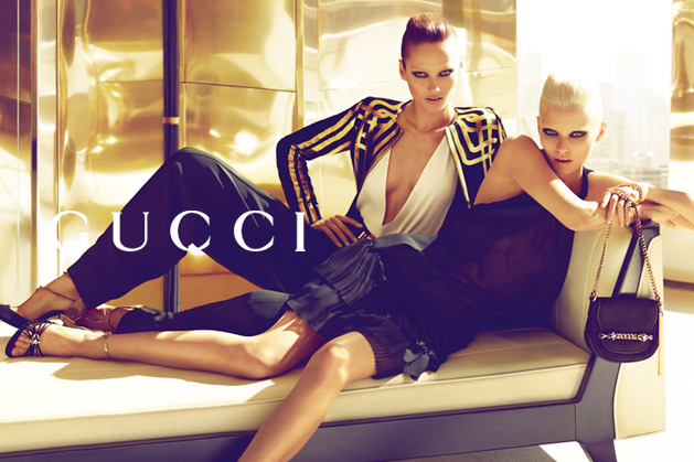gucci3 Abbey Lee Kershaw & Karmen Pedaru for Gucci Spring 2012 Campaign by Mert & Marcus