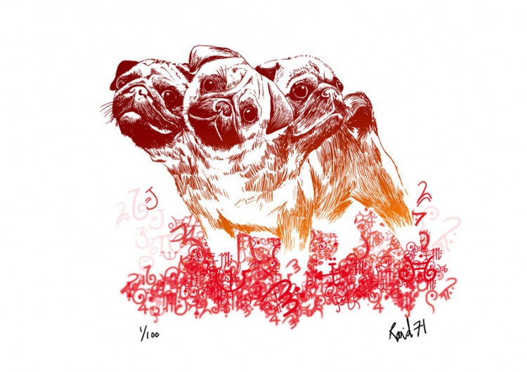 hell pugs 750x530 Cereberus the Pups from Hell