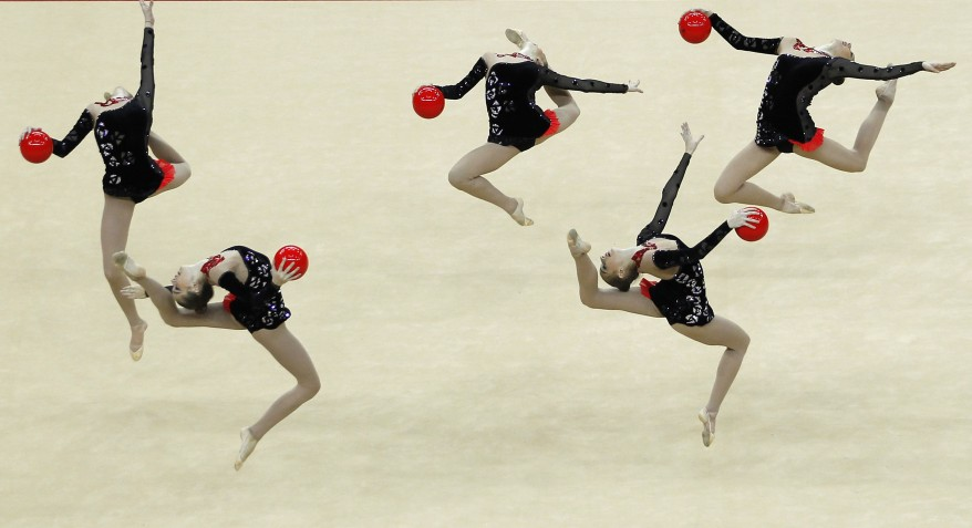 reuters britain ukraine gymnastics 16Jan12 878x477 Five sprightly Ukrainians leaping at O2 Arena