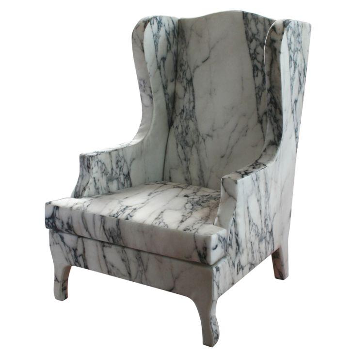 soft marble armchair1 Soft Marble Armchair by Maurizio Galante