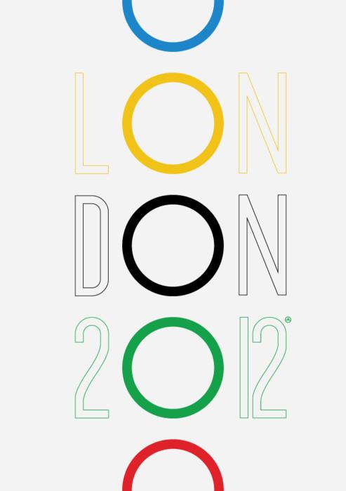 2012 London Olympics poster by Viktor Hertz