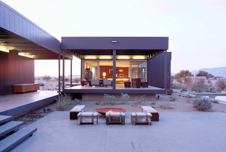 1623 750x504 Desert House by Marmol Radziner