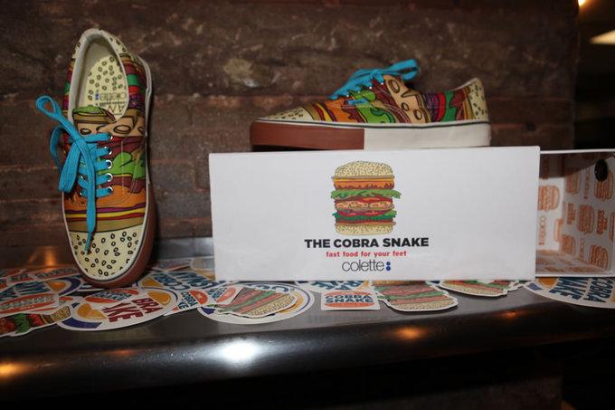 Stylons Colette Vans Cobrasnake Cheeseburger Sneaker