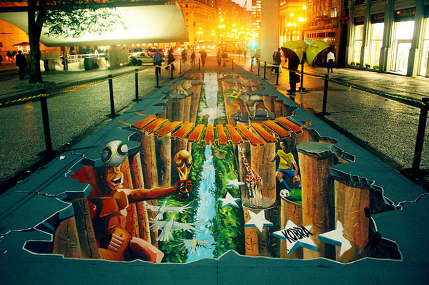 3d 4511 30 Impressive 3D Sidewalk Chalk Artworks