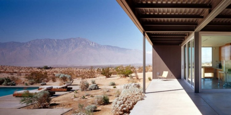 872 750x374 Desert House by Marmol Radziner