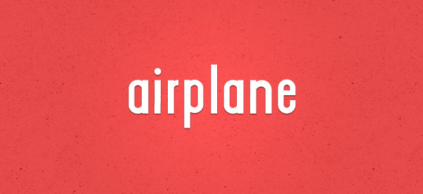 Airplane font 17 Must Have Free Fonts for Designers   Machoarts