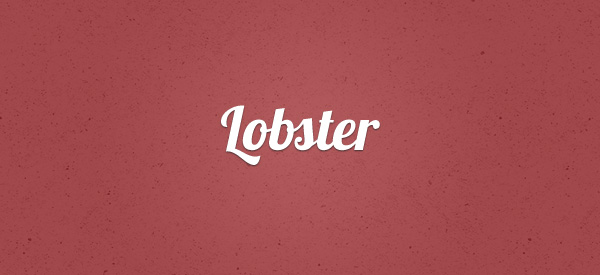 Lobster font 17 Must Have Free Fonts for Designers   Machoarts
