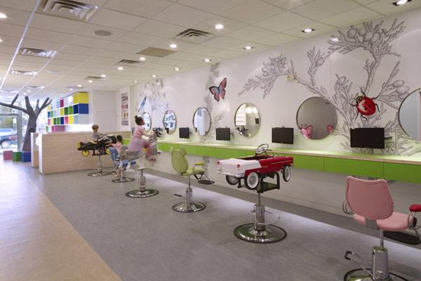 hair salon for kids 2 Interior Design with Kids in Mind: Innovative Hair Salon in New York