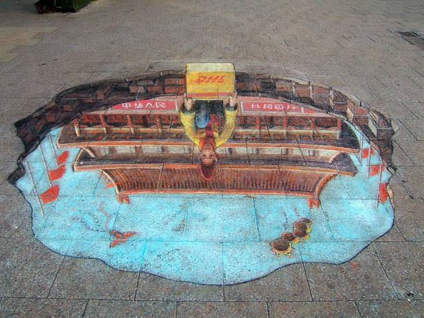 julian beever street art 211 30 Impressive 3D Sidewalk Chalk Artworks