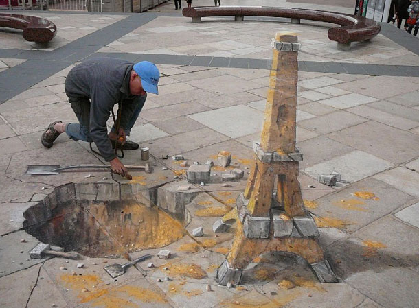 julian beever street art 811 30 Impressive 3D Sidewalk Chalk Artworks