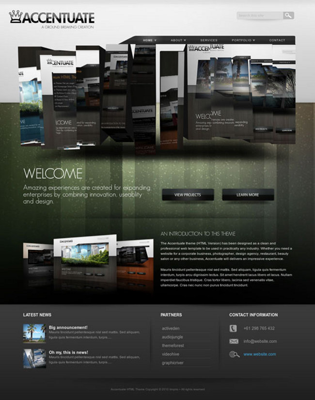 Amazing 3D Slider in 14 Portfolio Website Templates | Snap! Magazine