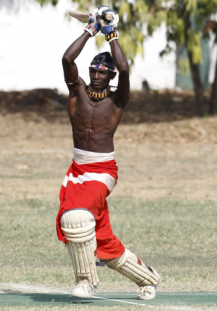 436 Kenya's Maasai 'Warriors' Campaign for Healthy Lifestyle by Playing Cricket