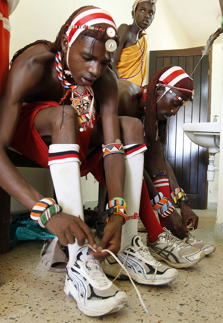 530 Kenya's Maasai 'Warriors' Campaign for Healthy Lifestyle by Playing Cricket