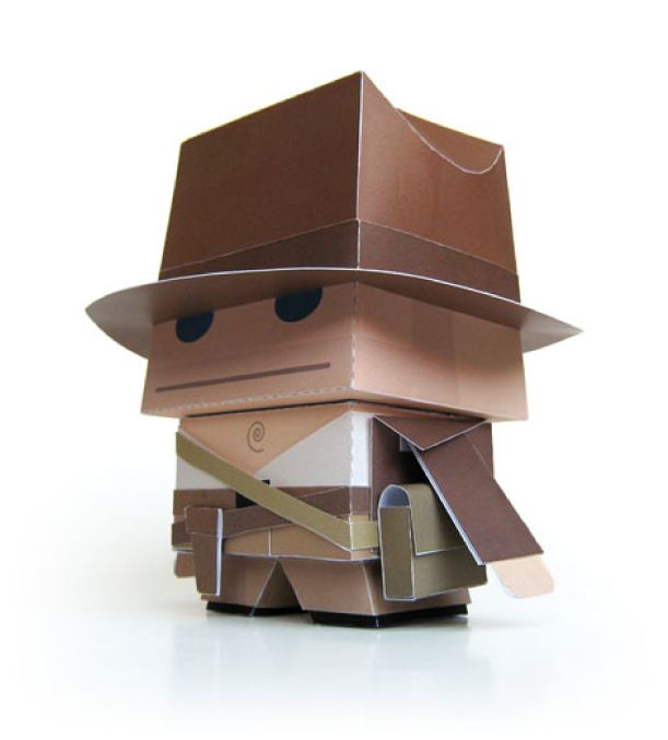 Indiana Jones Paper Toy Papercraft Papiermodell Marshall Alexander Indiana Jones Paper Toy by Marshall Alexander
