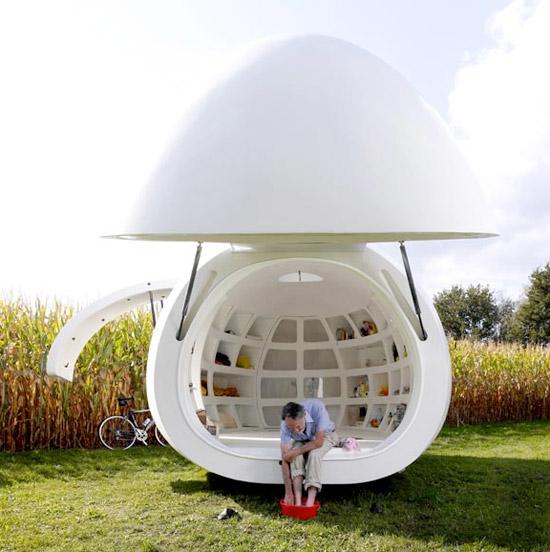 blob living pod 6 Blob Living Pod by dmvA Architects