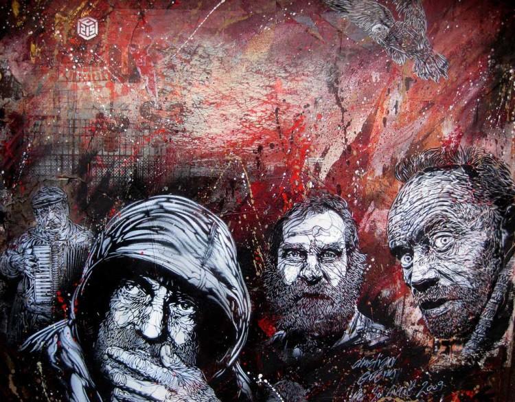 c215 paris vitry1 750x585 Graffiti Stencil Art by Street Artist C215