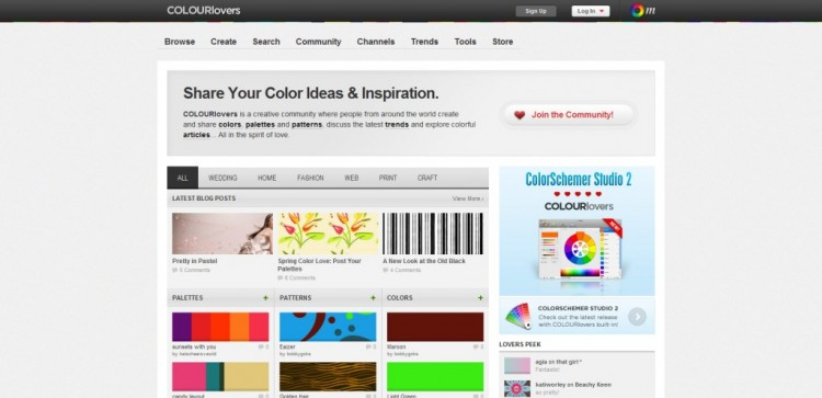 colourlovers 1024x4961 750x363 Top 22 Helpful Color Tools for Designers