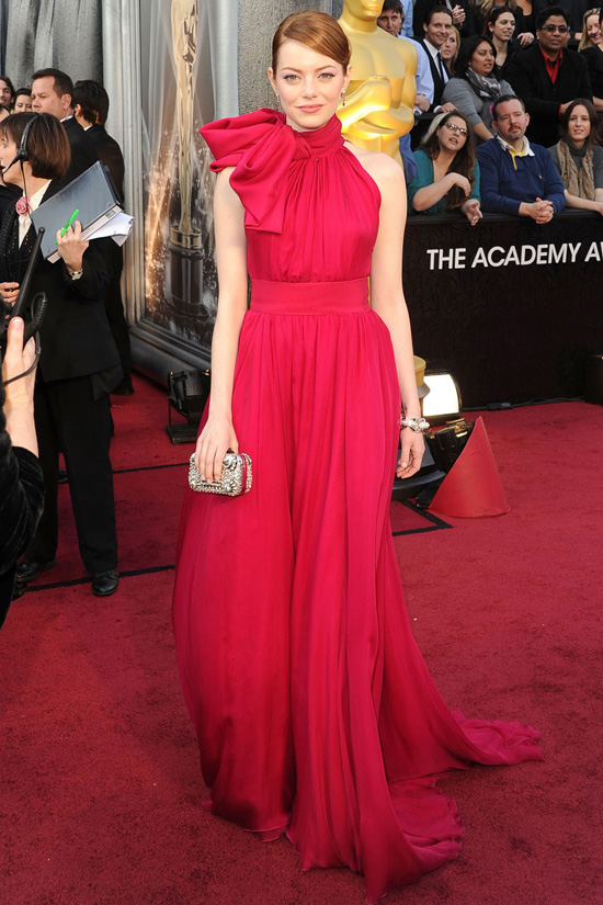 emma stone oscars 2012 101 Top Ten Red Carpet Dresses of OSCARS 2012