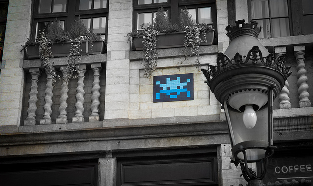 invader1 Pixel Monsters Invade Brussels