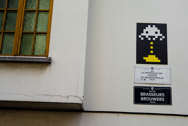invader2 Pixel Monsters Invade Brussels