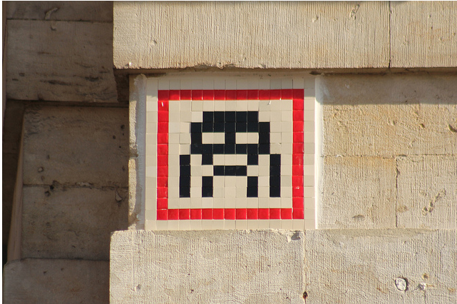 invader5 Pixel Monsters Invade Brussels