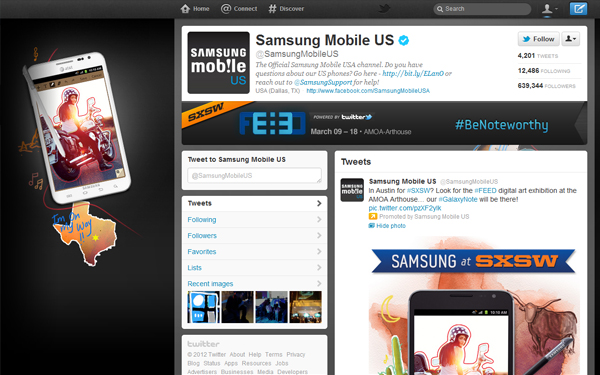samsung mobile usa1 Twitter for Business: Inside Guide on Advertising