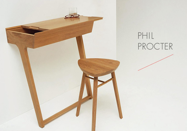 1o17 Quello Table and Stool by Phil Procter